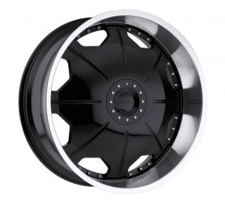 26 inch Strada Mirror Black Wheels Rims 6x135 F150 Expedition