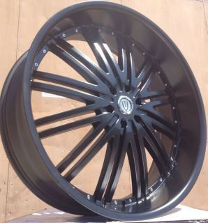 28 Versante 212 Matte Black Wheels Tires 6x139 7 Silverado 2000 2006