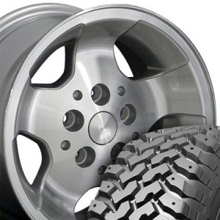 15x8 Silver Wrangler Wheels Rims Nexen Roadian MT 31x10 5 Tires Fit
