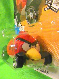 HOT WHEELS ANGRY BIRDS RED BIRD ICONIC MASCOT 2012 NEW MODELS MOST