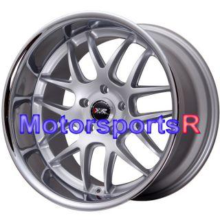 20 20x9 20x11 XXR 526 Silver Polished Lip Rims Staggered Wheels 5x120