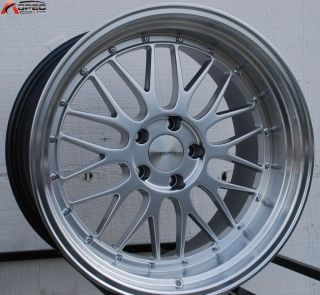 18X9 5 VARRSTOEN ES111 WHEELS 5X114 3 RIMS 30MM HYPER SILVER W MACHINE