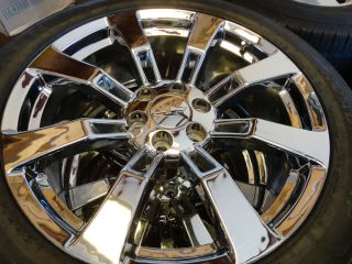 22 Chrome Cadillac Escalade Wheels Rims Tires Tahoe Sierra Silverado
