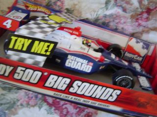 Hot Wheels Dan Wheldon Indy 500 National Guard Big Sounds Vehicle