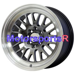 16 16x8 XXR 531 Chromium Black Wheels Rims Deep Dish Lip 4x100 Stance