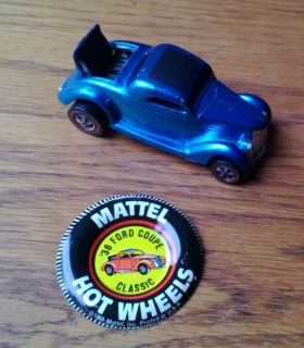 Hot Wheels Redline 1969 Classic 36 Ford Coupe Blue