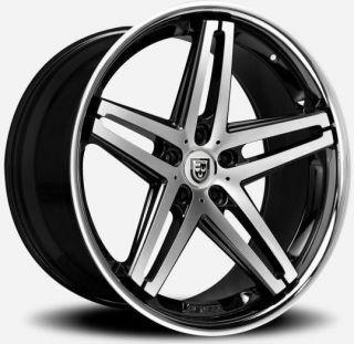 20 inch 20x8 5 Lexani R 5 Black Wheel Rim 4x4 5 4x114 3