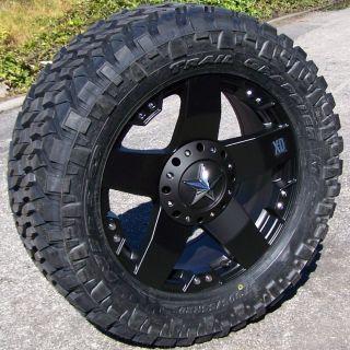 20 Black XD Rockstar Wheels Rims 33 Nitto Trail Grappler Chevy