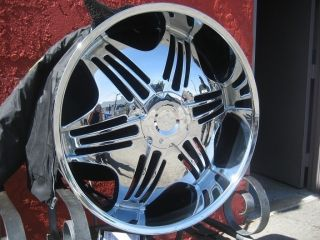 26 Pinnacle P36 Bella Chrome Wheels Rims and Tires Package Gianna Dub