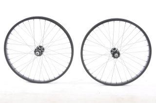 Pair of BMX Black Wheels 3 8 CrMo 36 Spoke Alex Alloy Rim New
