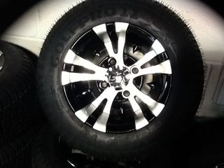 Golf Cart Wheel and Tire Custom Bling Sharp 12 Vampire Combo Fits E Z