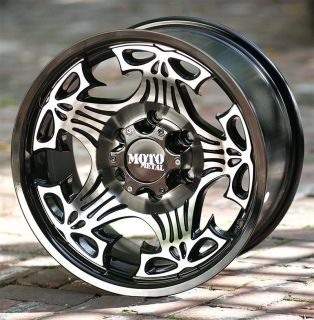 17 inch black wheels Moto Metal 909 skull Chevy Gmc 1500 Trucks 6 lug