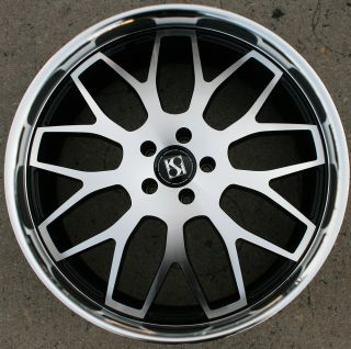 KUTURE FANN L2 22 BLACK RIMS WHEELS BENZ GL450 GL550 22 X 9 0 5H 38