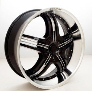 20 inch Rims Tires Wheels 40 Black Rockstarr 41O Pkg