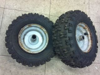 Craftsman Murray MTD Snowblower Wheels Tires Rims 13X500X6 USED # FP60