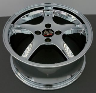17 Rims Fit Mustang® Cobra 4 Lug Deep Chrome Wheel Set