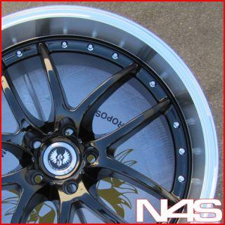 20 Infiniti G35 Coupe Nissan 350Z Stern ST1 Black Wheels Rims