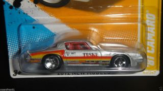 2012 HOT WHEELS 81 CAMARO SILVER TUSKE NEW MODELS 43/50 HTF CASE # E