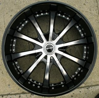 Strada Sole 202 22 Black Rims Wheels Maxima Altima Murano 22 x 8 5 5H