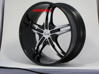 Black Machine New Wheels Tires 305 40 22 Fit Chevy Ford 6 Lugs