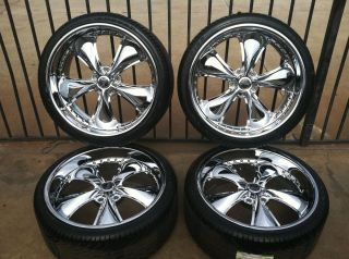 Sec 2 Piece Wheel Tire Package Impala Chevy Trucks 22 Rims