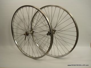 Vintage Araya RM 20 26 Rims Laced to Suzie SEALED Hubs 36h MTB