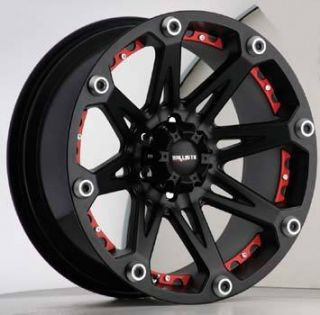 17x9 Ballistic Wheels 814 Jester 8x170 ET12 Flat Black 1 New Rim
