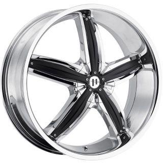 20 inch 20x8 Helo HE844 Chrome Wheels Rims 5x110 38