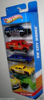 Hot Wheels HW City Works 5 Pack Limozeen Rescue Ranger Shoe Box New