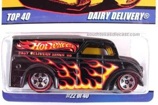 HOt WHEELS DAIRY DELIVERY PANEL TRUCK SINCE 68 TOP 40 REDLINE HUNT