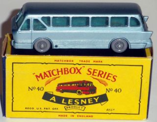 DTE LESNEY MATCHBOX REGULAR WHEEL 40 2 LONG DISTANCE COACH W SCARCE