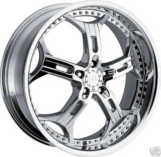 20 Chrome Helo 834 Wheels Rims 5x4 5 114 3mm 40mm