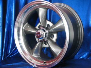 15x7 15x8 GRAY REV CLASSIC 100 WHEELS RIMS FOR DODGE CORONET 1965 1966