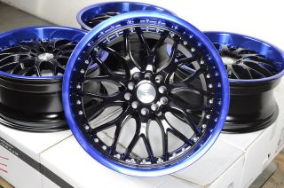 18 Blue Effect Wheels Rims Scion TC XD Mustang Accord Civic Lexus