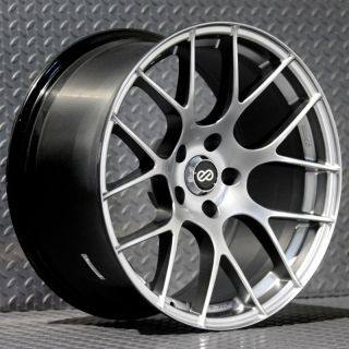Enkei Raijin Rims Hyper Silver 18x9 5 5x112 35 Set of 4 Wheels