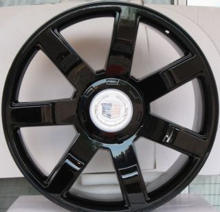 24 Cadillac Escalade Wheels Rims Phantom Black Finish 22