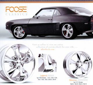 18 inch Nitrous Classic Hot Rod Chrome Rims Wheels Tires