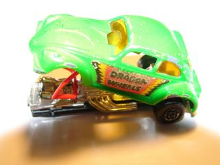 1972 Matchbox Vintage Mattel 43 Dragon Wheels VW Green Beetle Bug