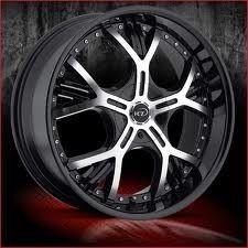 18 inch VCT Vezarro Black Wheels Rims 5x100 40 Jetta PT Cruiser Neon