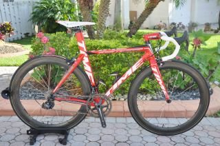 Ulteam Carbon Road Bike Campy Super Record 11 Zipp Wheels Size 49 5 cm