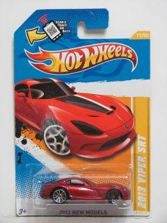 Hot Wheels 2012 New Models 2013 Viper SRT 11 50 Red Wheels Error
