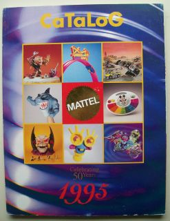 1995 Mattel Toy Catalog Boys Line Hot Wheels Nickelodeon Street Sharks