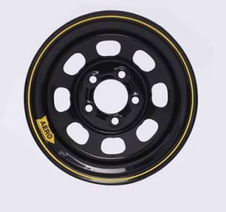 Aero Race Wheels 50 Series Black Powdercoat Roll Formed Wheel 15 x10