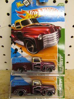 2012 Hot Wheels Treasure Hunt 52 Chevy Error x 2