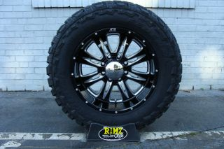 20 Eagle Alloy 016 Black Wheels 20x10 35x12 50 20 Federal MT Mud Tires