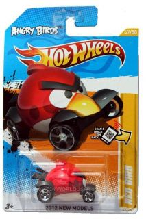 2012 Hot Wheels New Models 47 Angry Bird Red Bird