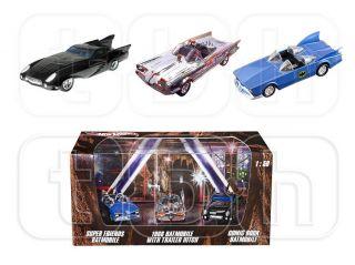 2012 Batman Hot Wheels 1 50 Box Set 3 Pack 1966 Chrome Batmobile Super