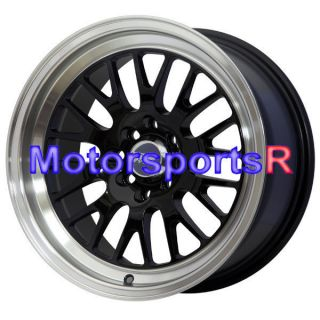 15 15x8 XXR 531 Black Wheels Rims Deep Dish 4x100 95 Honda Civic SI