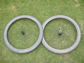 60mm Clincher Carbon Fiber Bike Wheels 700c Full Carbon Fiber Wheel