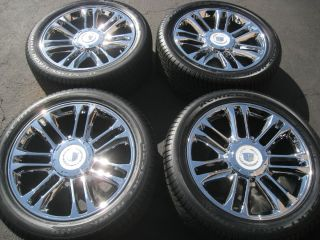 22 Cadillac Escalade Platinum Chrome Wheels Tires Silverado Tahoe 20